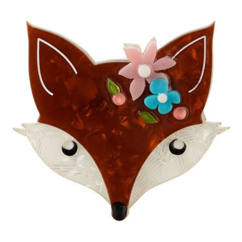 Erstwilder Limited Edition Flora Fox Face Brooch, $34.95 (AUD)