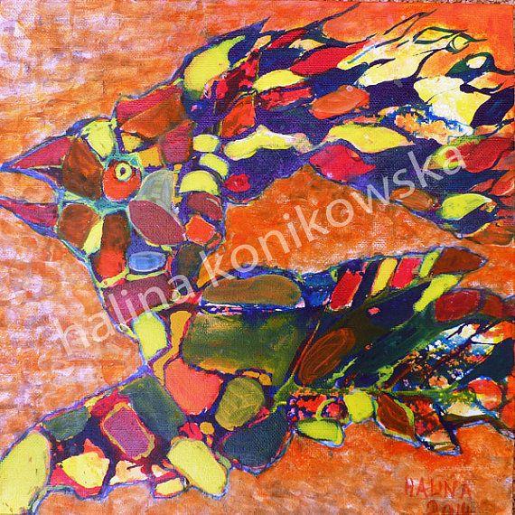 Acrylic painting by Halina Konikowska