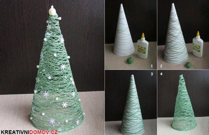 Vánoční stromek z provázku