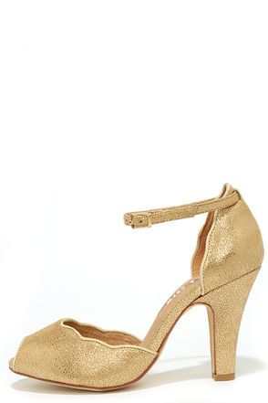 1000  ideas about Gold Peep Toe Heels on Pinterest | Metallic ...