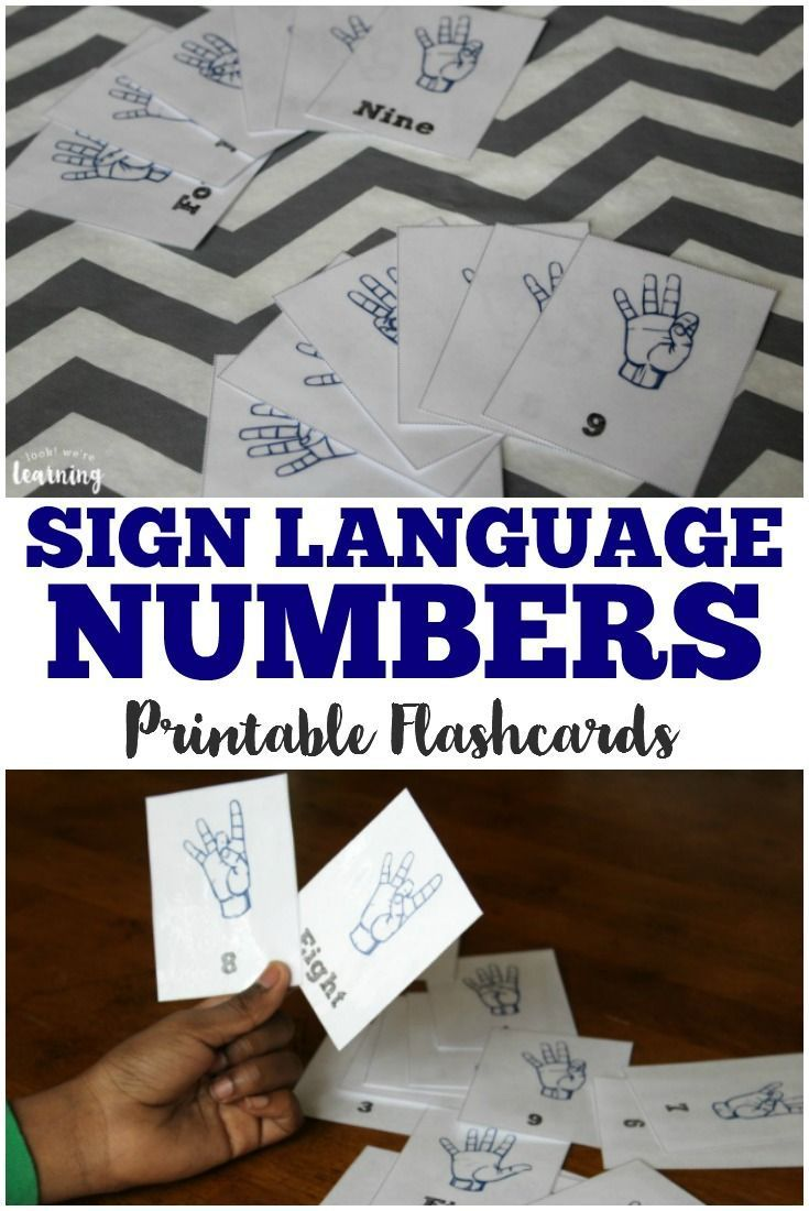 171 best asl images on pinterest american sign language asl learning to count in sign language is easy with this set of free asl number flashcards fandeluxe Choice Image