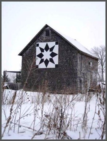 """""""Black and White Star"""" door county"""