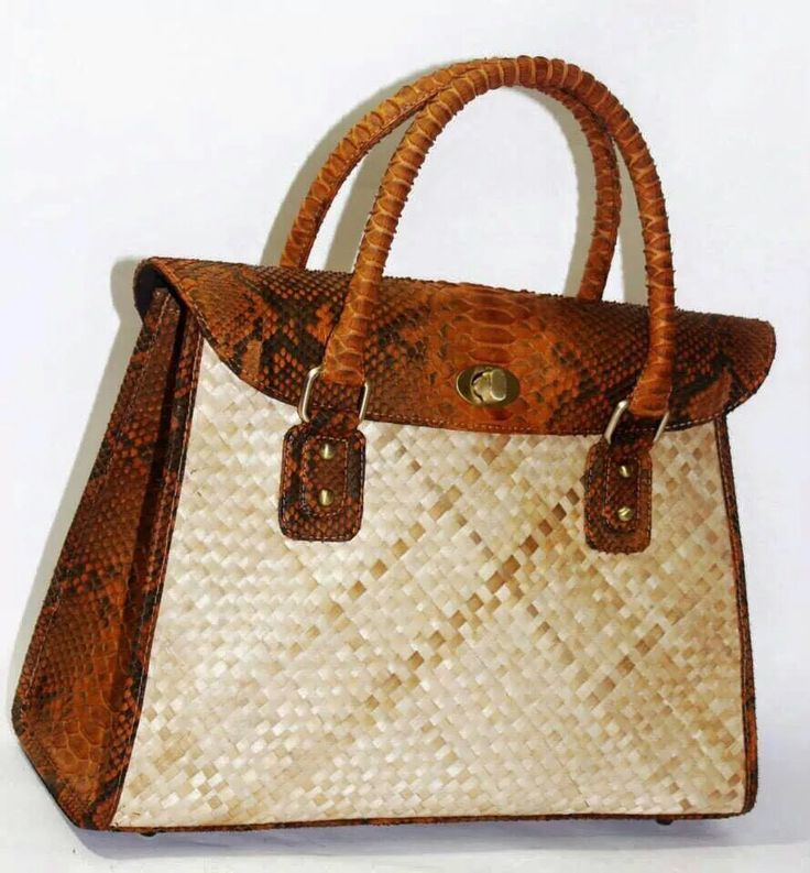 Woven Rattan mix with Cobra leather made by order. Add me on Facebook Balinesian Ethnic Purses. Lots of model form real leather with affordable price