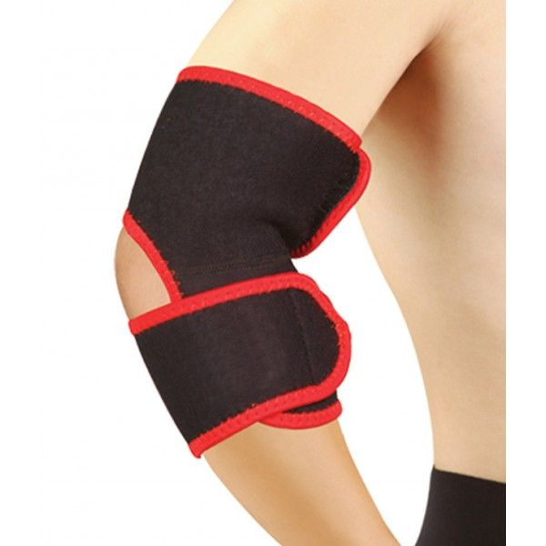 Nivia Elbow Support Product Code: FS1605  Size: One Size Fits All  Nivia elbow supports are made of Neoprene and are covered with stretch nylon on both sides for comfort. The Neroprene which is present as a lining removes excess perspiration, providing excellent warmth and support.  The additional double padding supports the joint at the front, ensuring uniform compression and stabilization of the elbow.  MRP: Rs 340.00/- Discount: 0 % Our Price:Rs 339.00/-
