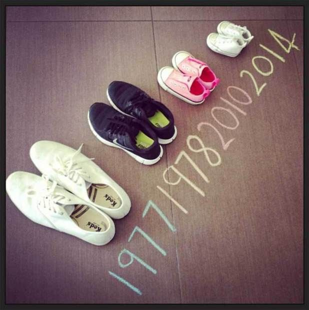 Pregnancy Announcement - Cute twist on the shoes!