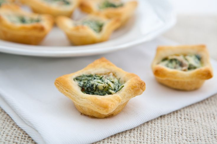 Mushroom and Spinach Tartlets by EclecticRecipes.com recipe.  This very simple appitizer packs amazing taste!  So easy and So Yum!