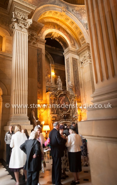 Castle Howard - The Great Hall during a wedding reception