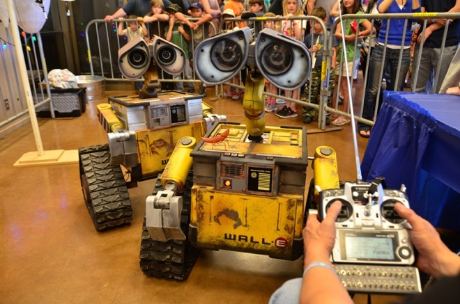 Maker fair - R2D2 Builders Club sink their fab-tech skills into. Formed in 2007 after seeing a preview of the then-upcoming film Wall-E, biometric programmer Mike Senna and citrus farmer Michael McMaster spent two years collecting as much data about the expressive, tracked robot as possible, and another two years constructing their replicas.