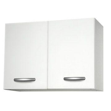 Meuble de cuisine haut Spring 2 portes 80x57x35 cm, blanc | Leroy Merlin