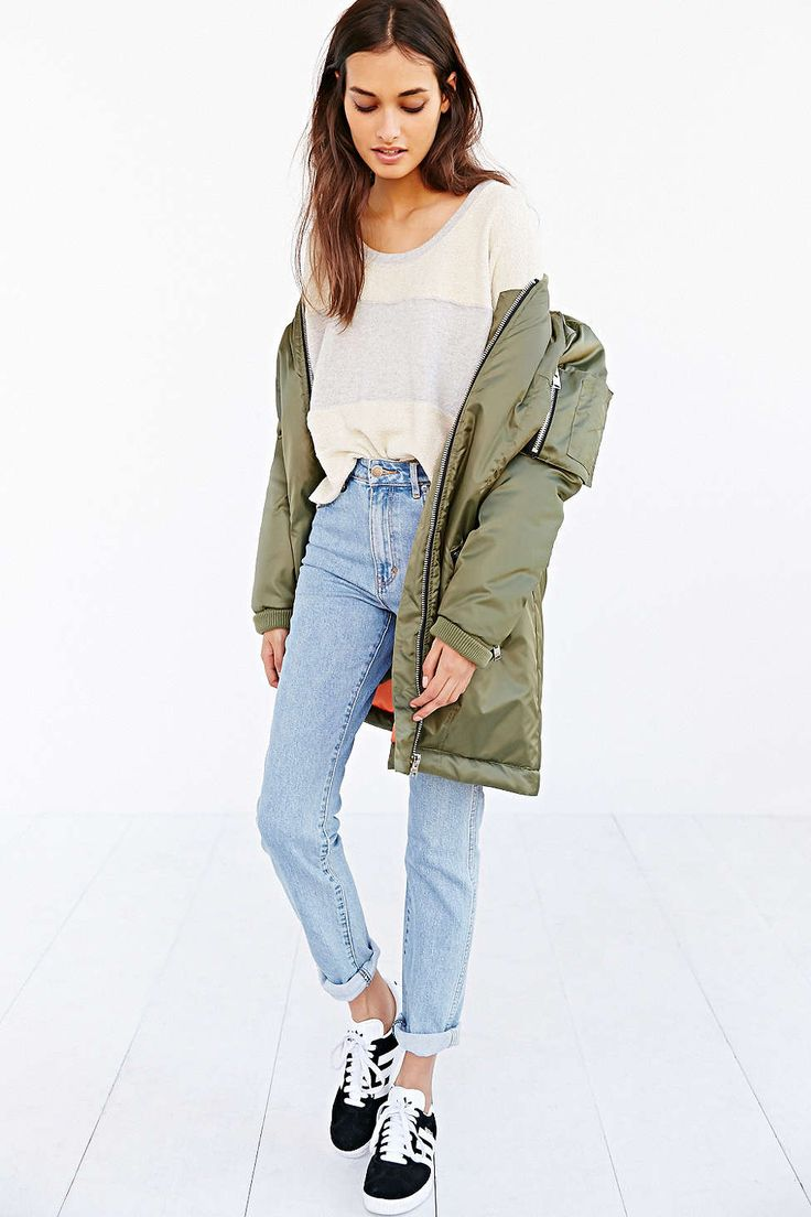 BDG Striped Reverse Fabric Top - Urban Outfitters