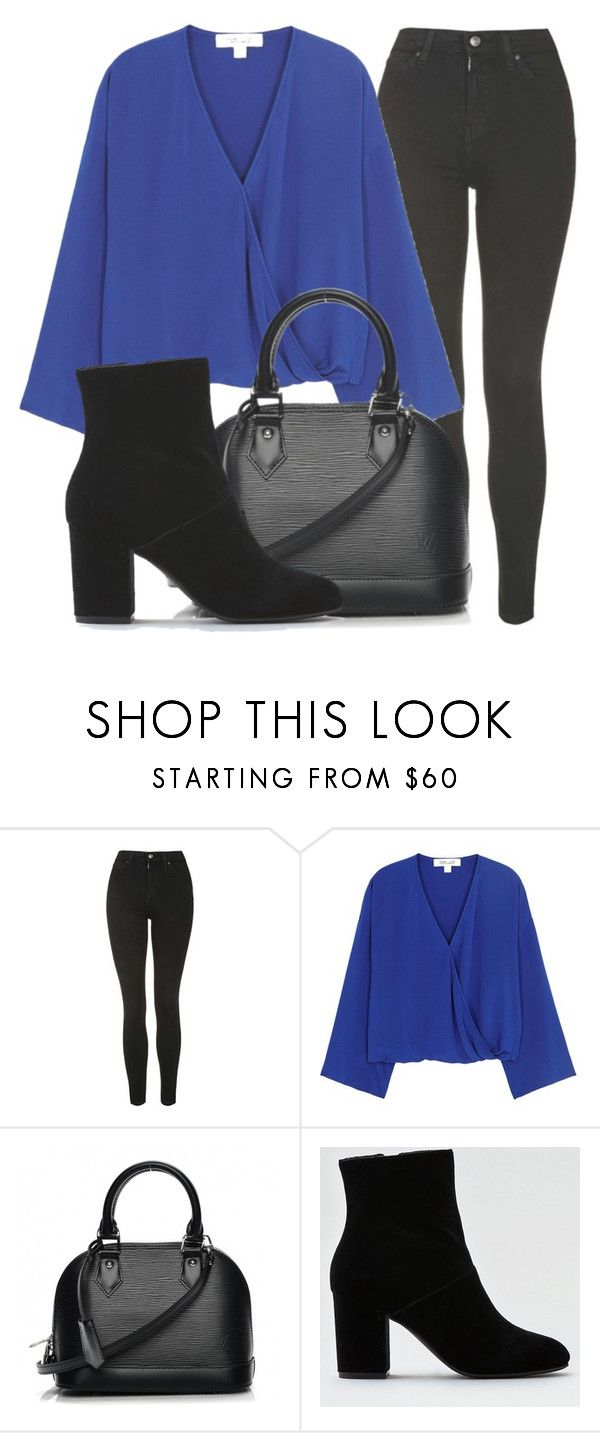 """""""Outfit #1863"""" by lauraandrade98 on Polyvore featuring moda, Topshop, Diane Von Furstenberg, Louis Vuitton y American Eagle Outfitters"""