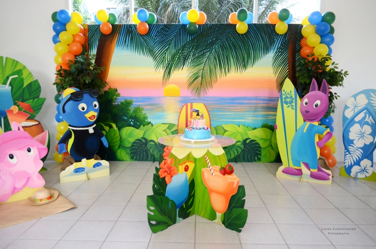 Backyardigans na praia. Empresa Fantasie Festas Infantis
