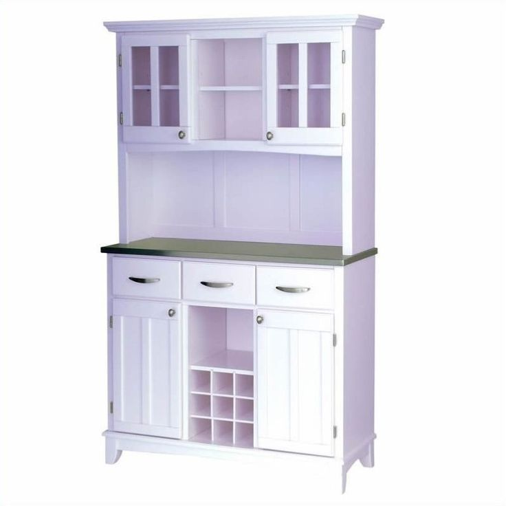 Lowest price online on all Steel Top Buffet and 2-Door Hutch in White - 5100-0023-22