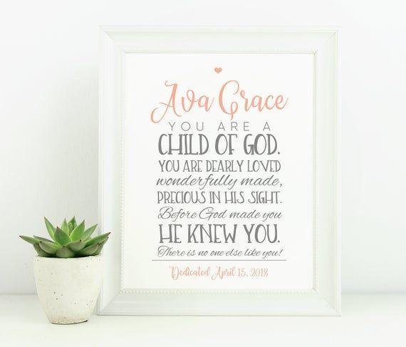 Taufe Geschenk Bibel Vers Wandkunst Baby Boy Geschenk