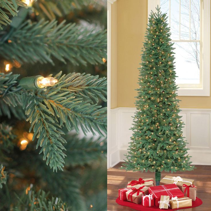 7.5ft PreLit Artificial Christmas Tree Fir 450 Led Clear Lights Xmas and Stand #MassMarket