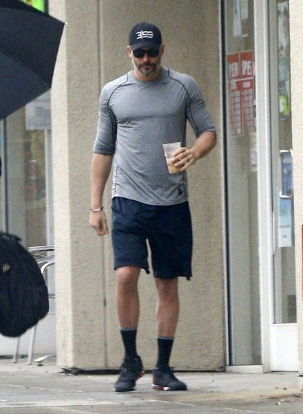 "Actor Joe Manganiello was seen grabbing an iced coffee in West Hollywood, California on February, 2017. Joe and wife Sofia Vergara are enjoying their marriage and still ""feel like newlyweds."""