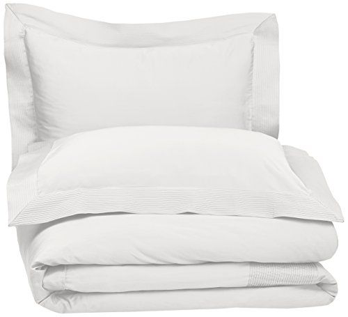 $52.08 | Pinzon 400-Thread-Count Pleated Hem  Egyptian Cotton Sateen Duvet Set - Full/Queen, Cloud Pinzon by Amazon http://www.amazon.com/dp/B002R59QBU/ref=cm_sw_r_pi_dp_KkY-wb15AS5A7