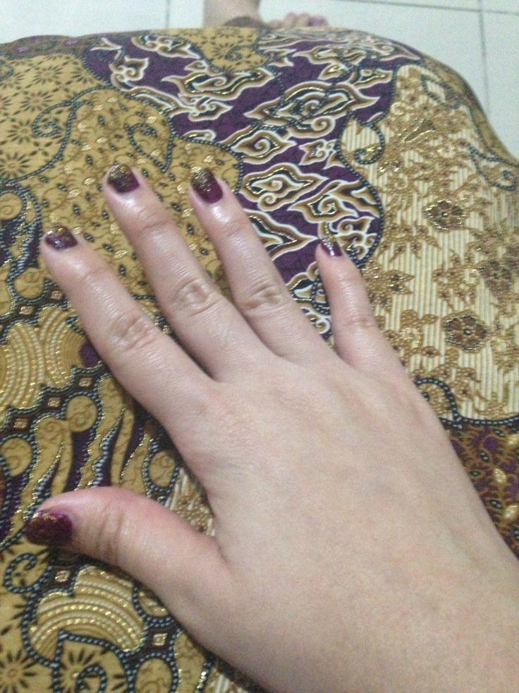 My glitter purple nail polish #diy