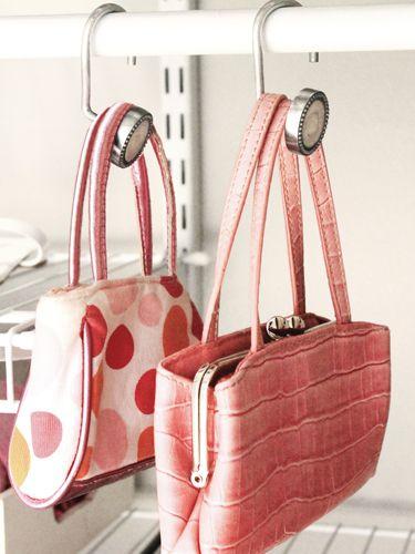 Best 20 hanging purses ideas on pinterest purses for - Handbag hanger for closet ...