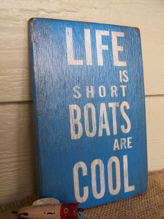 Life's Short Boats are Cool  6 x 9 Small by southofmain on Etsy, $20.00