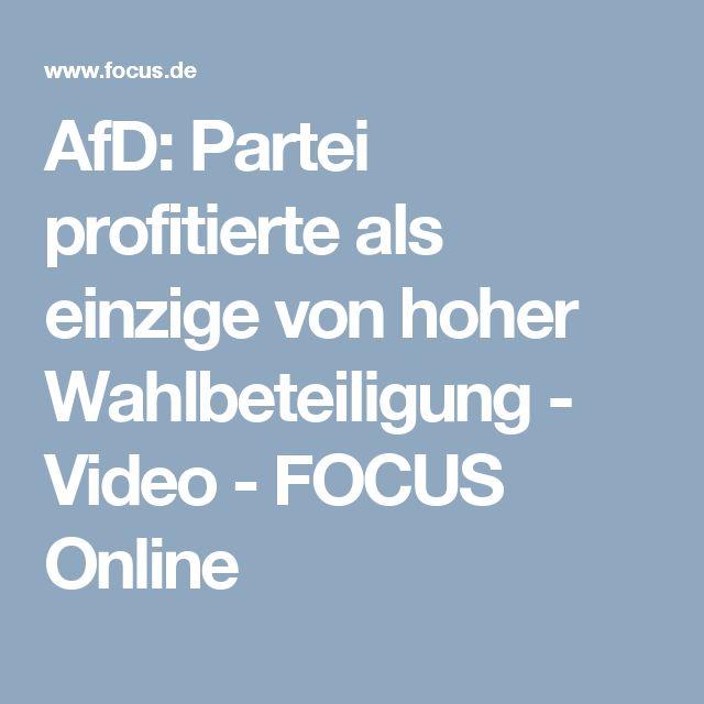 AfD: Partei profitierte als einzige von hoher Wahlbeteiligung - Video - FOCUS Online