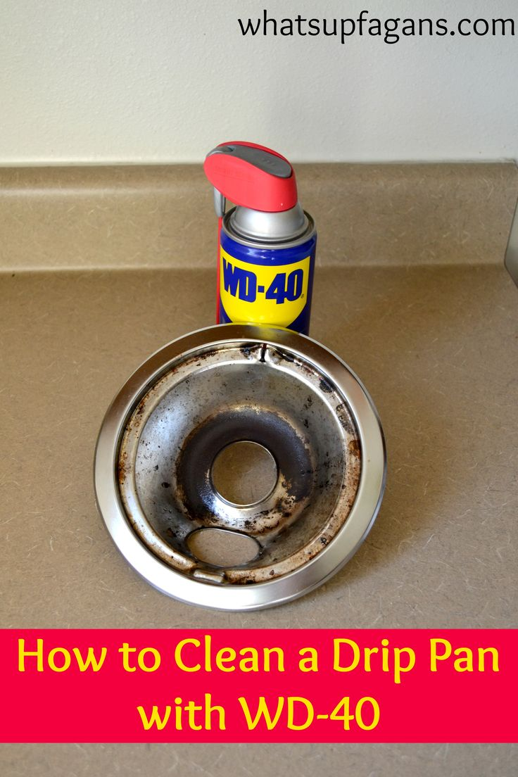 How to clean a drip pan with WD-40. A great post on 4 different ways to get stove pans clean and what really works best.