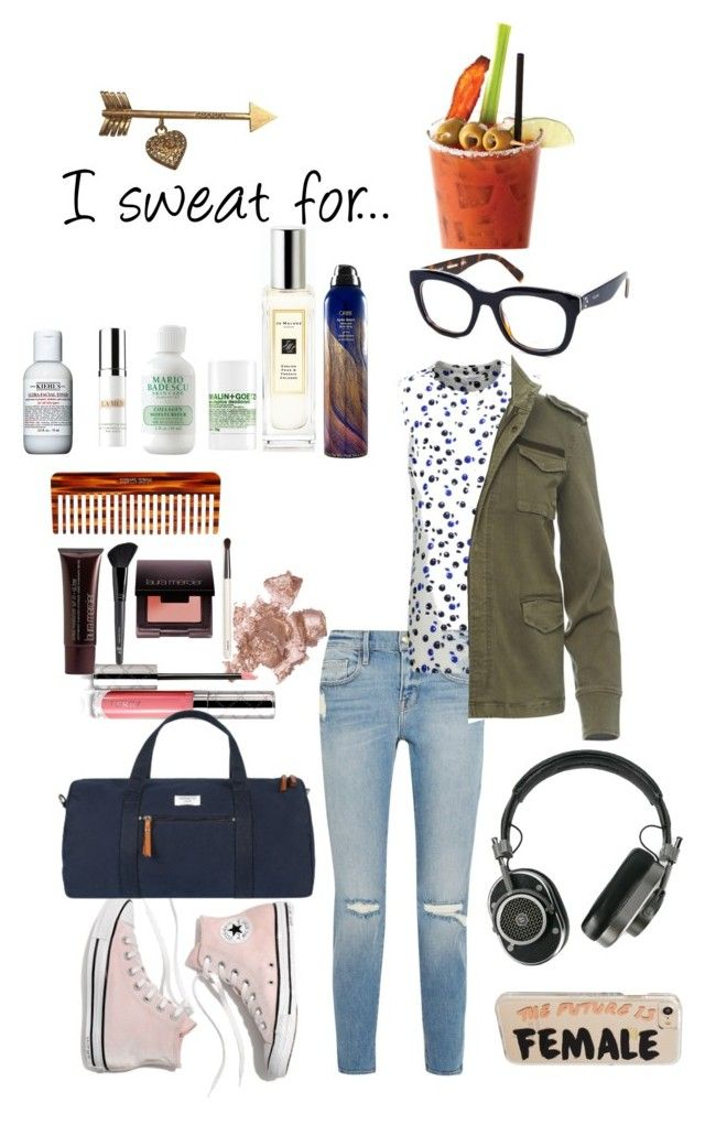 """Untitled #19"" by baumgartenamanda ❤ liked on Polyvore featuring Chanel, Kiehl's, La Mer, Mason Pearson, Oribe, Madewell, (MALIN+GOETZ), By Terry, Frame and CÉLINE"