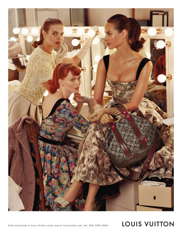 Natalia Vodianova, Karen Elson, and Christy Turlington for Louis Vuitton Fall 2010.  Photographed by Steven Meisel.
