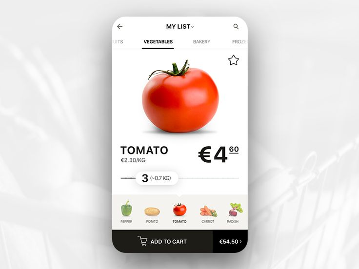 Hi, I made a quick concept of groceries shopping app. The main idea collect your items and their quantity as quick as possible and buying them online.