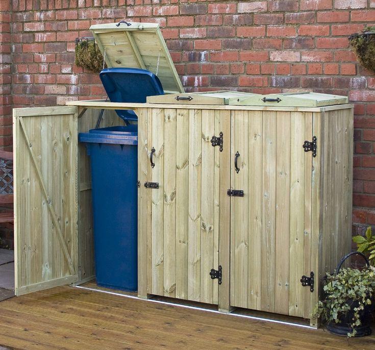 outdoor recycling bin storage diy wheelie bin storage. Black Bedroom Furniture Sets. Home Design Ideas