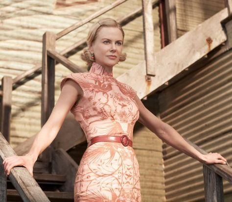 "Nicole Kidman in ""Australia"" wearing cheongsam-style dress"