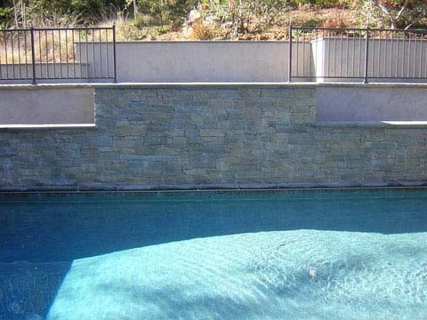 32 best images about retaining wall fence ideas on for Pool design retaining wall