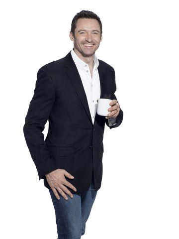 laughing man coffee   Hugh Jackman, Laughing Man Coffee. Photo: Warwick Saint - TheStreet