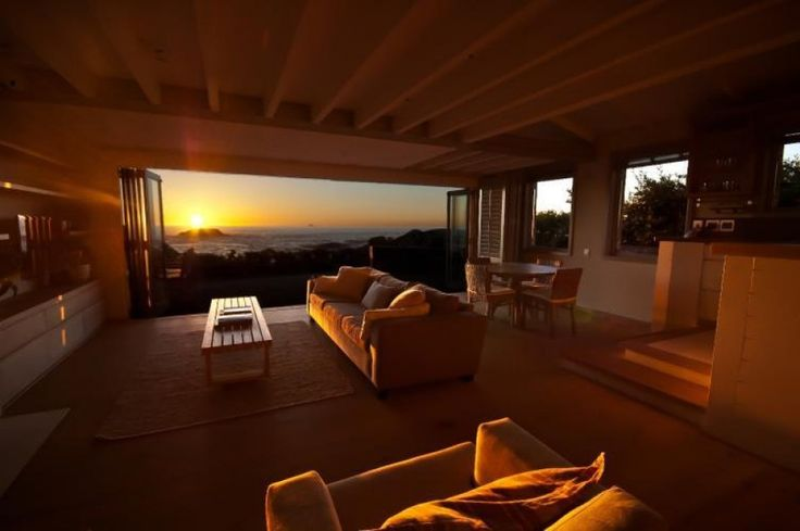 Cape Town sunset from your own private beach front villa