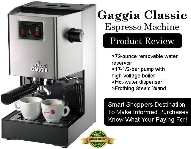 Gaggia Classic Espresso Machine (Model: 14101) Review