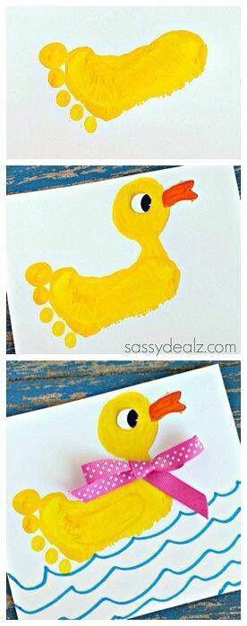 Duck foot print