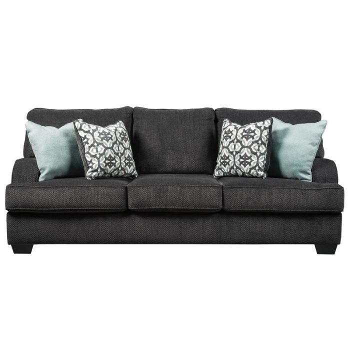 Ashley Contessa Charcoal Chenille Sofa in 2019 | Living Room Under ...