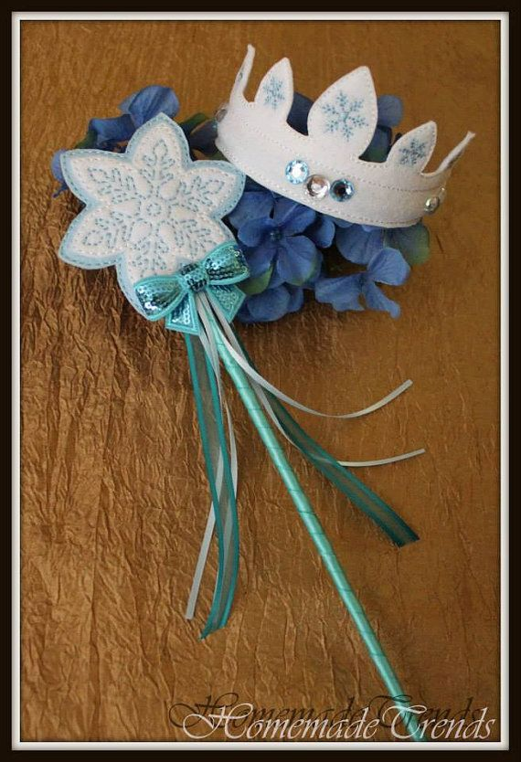 Elsa Crown & Wand Pretend Play Set by HomemadeTrends on Etsy, $19.00