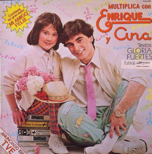 ENRIQUE Y ANA - MULTIPLICA CON . LP . 1980 La mejor manera de aprender las tablas de multiplicar (letra de las canciones de Gloria Fuertes)