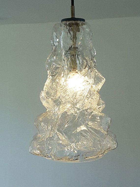 Glass Pendant Peill & Putzler Mid century 1960s by vintagemoodsNL