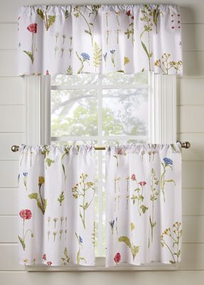 Spring Floral Cafe Curtain Set