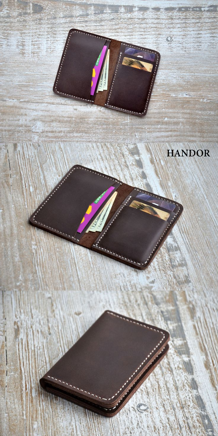 Lwather wallet, Mens custom, Wallets for men - Front Pocket wallet - Minimalist Handmade Leather Credit Card Wallet, leather wallets, handmade wallet. #wallet #leather