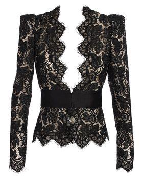 Stella McCartney is FAB! black, lace, blazers - BIG trends for the season.