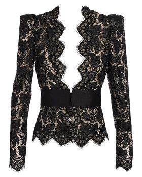 Stella McCartney is FAB! black, lace, blazers - BIG trends for the season.