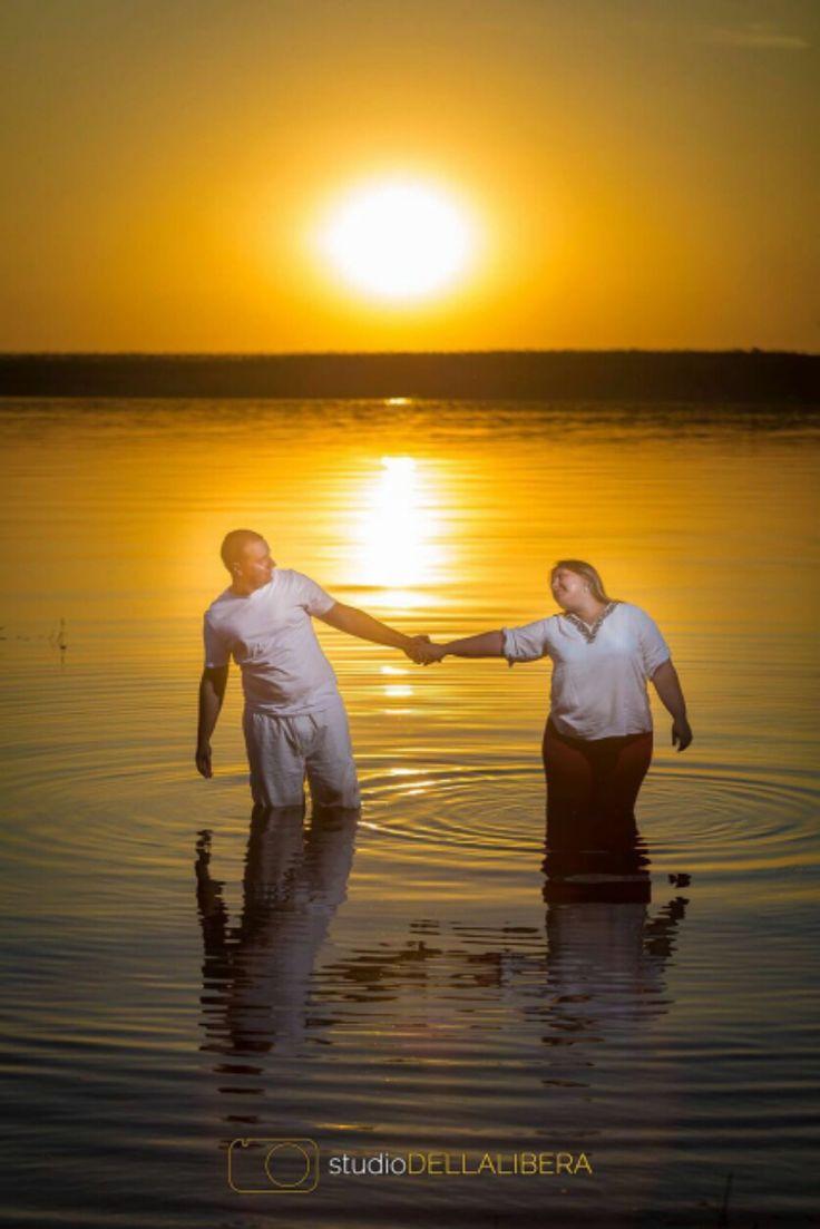sutileza e amor, com um belissimo por do sol