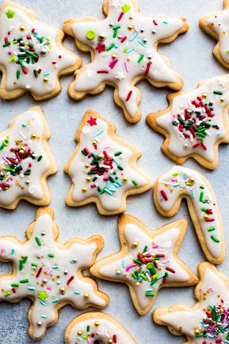 Christmas sugar cookies on sallysbakingaddiction.com