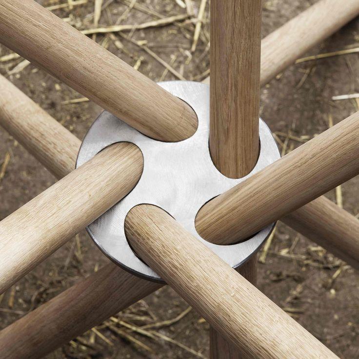 EH4 - Dining Table. #details #diningtable #table #concrete #concretetable  #steel #oak #oaklegs #steelring #eberhartfurniture