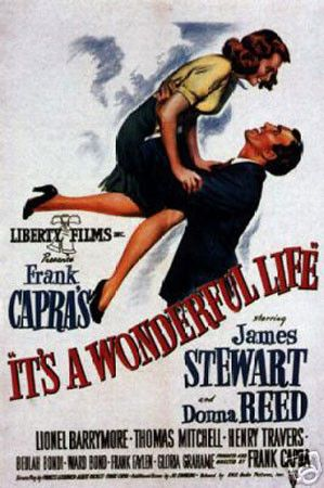 'It's a Wonderful Life' Christmas Classic Film vintage print (12 x 18)