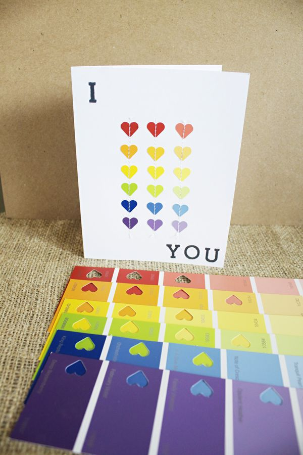 paint chip card ideas | Paint-Chip-Hearts-Card3