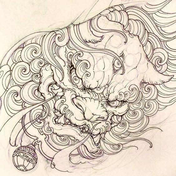 Foodog for today. #sketch #illustration #drawing #irezumi #tattoo #asiantattoo #asianink #chronicink